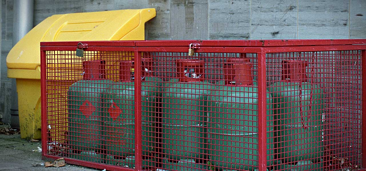 cylinder security cages