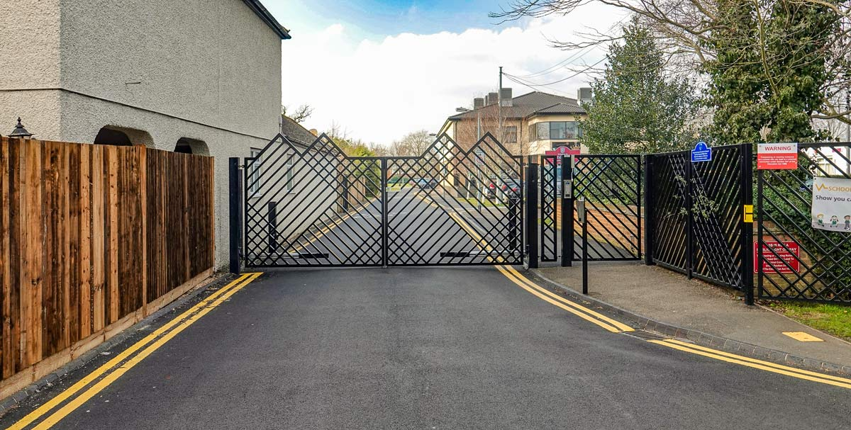automated school swing gates