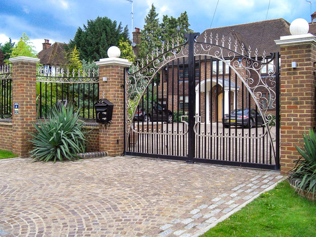 automatic security swing gates