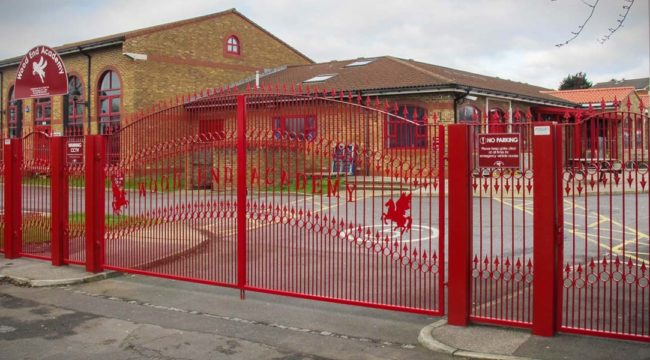 school gates by Harling Security