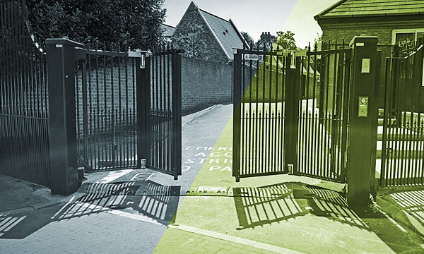 St Andrews automatic school gate installation